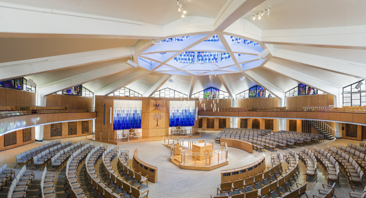 Sanctuary at Temple Adath Israel.